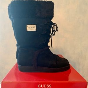 ⭐️ Guess? Gfhaskin Suede/Faux Fur Lined Boots ⭐️